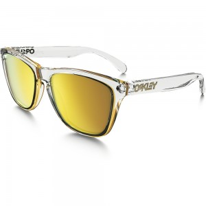 OAKLEY FROGSKINS CRYSTAL CLEAR / 24K IRIDIUM