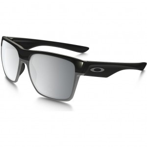 OAKLEY TWO FACE XL POLISHED BLACK/CHROME IRIDIUM